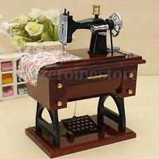Mini Caja De Música Joyero Máquina De Coser Antigua Estilo Decoración Regalo
