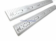 "Shinwa 6"" 5R Flexible No Glare SS  Machinist Ruler/Rule 1/64, 1/32, 1/10, 1/100"