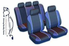 9 PIECE NAVY BLUE SPORTS SEAT COVERS  Opel Astra Corsa Insignia Vectra Adam