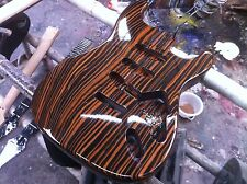 Starshine SR-MKT-007zebra wood  ST body electric guitar kits  S-S-S rounting