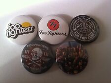 5 Foo Fighters Pin Button badges 25mm Nirvana The Pretender Everlong My Hero
