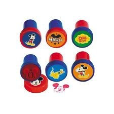 6 Disney Mickey Mouse Clubhouse Birthday Party Loot Favor Treat Stamps