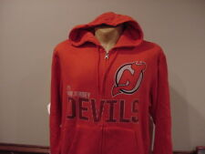 GORGEOUS New Jersey Devils Adult Lg Red Zippered Majestic Hoodie, NEW&NICE!