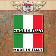 Made in Italia Adesivi 2x 60x36mm Auto Moto Vespa Fiat Alfa Decalcomania