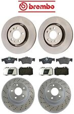 Mercedes W220 S430 2003-2006 Front and Rear Disc Brake Rotors & Pads Kit Brembo