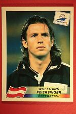 PANINI WC WM FRANCE 98 1998 N. 142 OSTERREICH FEIERSINGER WITH BLACK BACK MINT!!