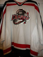 LNAH AHL ECHL UHL 2005-06 VERDUN DRAGONS GAME WORN MICHEL MASSIE HOCKEY JERSEY