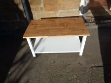 BESPOKE H45 W60 D30 TV entertainment unit stand table cream warm oak top