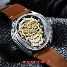 40mm Parnis skeleton dial Sapphire glass Miyota automatic mens watch P711