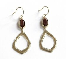 Silpada Tiger's Eye Bring The Heat Sterling Silver Hammered Earrings W2945
