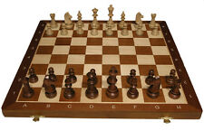 "Tournament  No. 4 Wood Chess Set - Folding 16"" Board - 1 9/16"" squares - 3"" King"