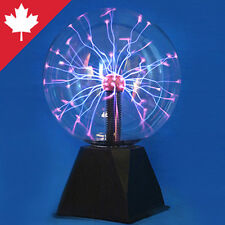 "Plasma Globe 8"" Ball Music Activated Mode Tesla Coil Lamp Touch Science Toy Gift"
