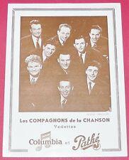 PUBLICITE PHOTO PATHE MARCONI VOIX DE SON MAITRE COMPAGNONS CHANSON ANNEES 1950