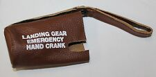 New Labeled Beechcraft Bonanza Emergency Landing Gear Lever Cover, Brown Leather