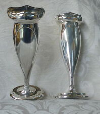 Vasi coppia Art Nouveau Liberty Sheffield Silver Plated Posy Vases 1911