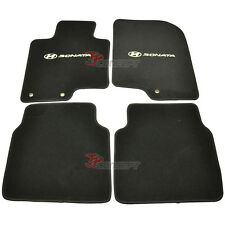 Fit For 2010-2012 Hyundai Sonata Black Nylon Car Floor Mats Carpets 4pcs