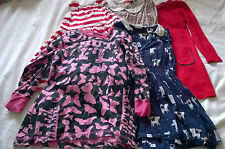 bundle dresses 5-6 years incl Next Maxomorra red pink navy blue cats stripes