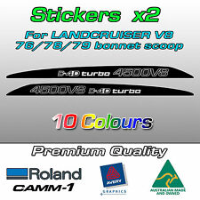 4500 V8 D4D turbo bonnet scoop decal/sticker for Landcruiser VDJ 76/78/79 series