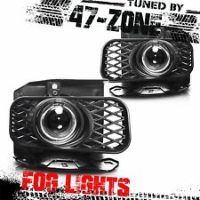 For F150 F-150 Ford Expedition White Halo Clear Projector Lens Fog Lights Pair