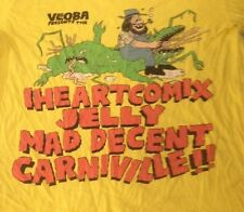 """VEOBA"" COMIX/JELLY/CARNIVILLE T-SHIRT ADULT S small YELLOW S/S comics HILLBILLY"
