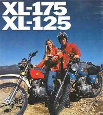 Original Honda Showroom Sales Brochure - 1976 Honda XL-175 / XL-125