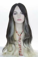 Xena Long Straight Silky Hair Skin Top 21 to 30 in Fun Color Costume Wig Bangs