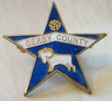 DERBY COUNTY Vintage RAMS Star shaped Badge Brooch pin in gilt 34mm x 32mm