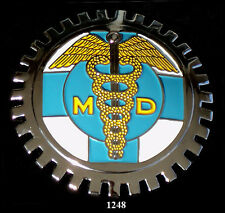 CAR GRILLE EMBLEM BADGES - MEDICAL DOCTOR(MD)