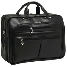 "McKlein USA Rockford Leather Checkpoint Friendly 17"" Laptop Case Black 8651"