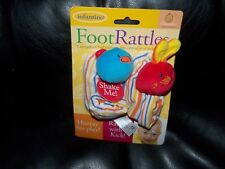 Infantino Foot Rattles Baby Booties W/Rattles Size Newborn NEW LAST ONE