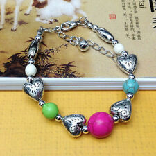 NEW Free shipping Jewelry Tibet silver jade turquoise bead DIY bracelet S280