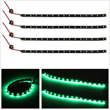 4in1 DC12V 30cm Flexible Green 15LED Car SUV Interior Footwell Atmosphere Lights