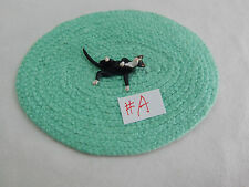 "Falcon Miniature Animal 1/2""  Scale 1"" Black Cat Kitty Kitten w/rug #2098-SK-R"
