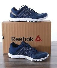 NEW Reebok Men's Yourflex Train 8.0 Athletic Running Shoes 9.5 MED Blue AR3218