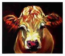 Creative Co-Op Casual Country Canvas Wall Art with Cow