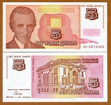 Yugoslavia, 5 Novih Dinara, 1994, Pick 146, UNC   Short lived issue