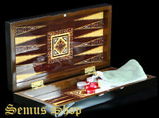 STAR BACKGAMMON TAVLA Intarsien Look OTTOMAN DESIGN 35 x 32 cm. B -WARE