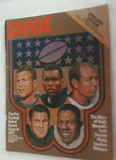 Vintage 1977 STEELERS Vs BILLS Program Three Rivers Stadium HOF Members Cover