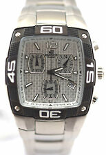 CASIO EF515D-7A EDIFICE Men Blue Square Dial 3SubDial SOLID STAINLESS STEEL