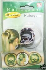 Hairagami Ladies Bun Tail Hair Accessory(White Leopard)