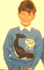 Childrens & Adults SAVE THE WHALE Jumper Knitting Pattern