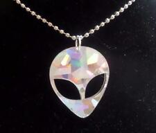 HOLOGRAPHIC LASER CUT ACRYLIC ALIEN NECKLACE