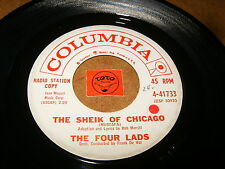 THE FOUR LADS - THE SHEIK OF CHICAGO - TWO OTHER  / LISTEN / VOCAL GROUP POPCORN