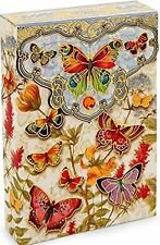 pUNCH sTUDIO Set of 10 Note Cards in Envelope Box - Botanical Butterfly