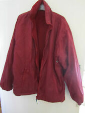 Long Red Reversible Jacket - Scotchlite Reflectors & Hood - Medium - Chest 48""