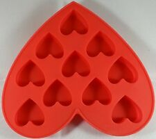 Heart Shape & Heart Design Silicone Ice Cube Tray - RED By Zmum67
