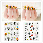 3D Punk 10Pcs DIY Nail Art Tip Halloween Skull Decal Wrap Water Transfer Sticker