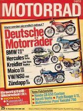 M7925 + Test HONDA CB 650 Custom + DUCATI 350 Vento + MOTORRAD 25 1979