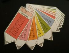 times table flash cards 1-12 Maths numeracy resources Pocket size pencil design