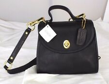 NWT Authentic Coach Black Leather 2-Way Satchel Shoulder Bag Handbag - USA